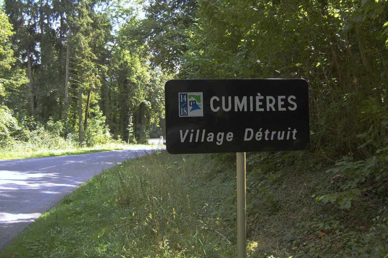 Cumières - village détruit